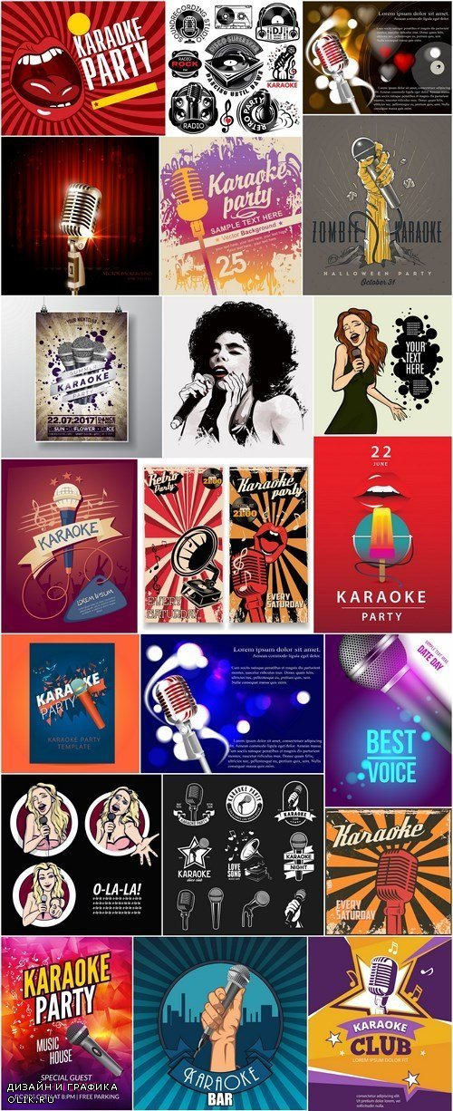 Karaoke Design Elements and Template - 24xEPS