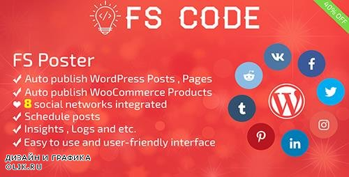 CodeCanyon - FS Poster v1.9.14 - WordPress auto poster & scheduler - 22192139 -