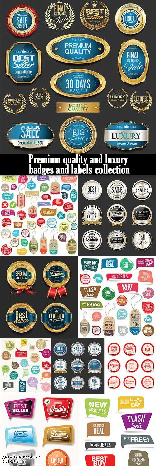 Premium quality and luxury badges and labels collection