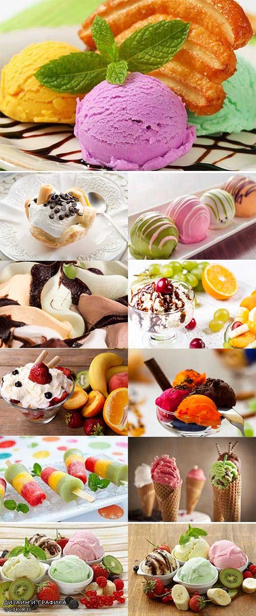 Assorted Ice Cream, View from Above 29xJPG