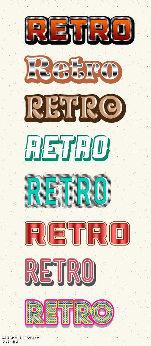 8 Retro & Vintage Photoshop Styles