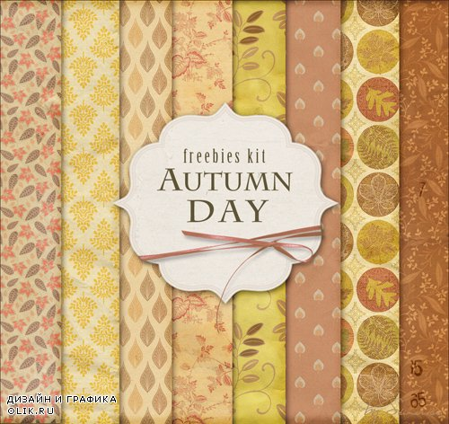 Paper Background Textures - Autumn Day