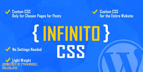 CodeCanyon - INFINITO v1.0 - Custom CSS for Chosen Pages and Posts or for Entire Website - WordPress Plugin - 22908708