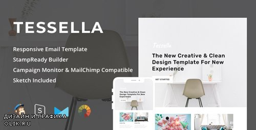 ThemeForest - Tessella v1.0 - Responsive Email + StampReady Builder - 22996838