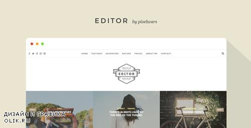 ThemeForest - Editor v1.5.2 - A WordPress Theme for Bloggers - 11404349