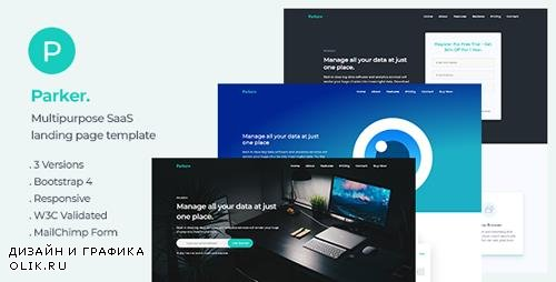 ThemeForest - Parker v1.0 - Software and Startup Landing Page Template - 23011577