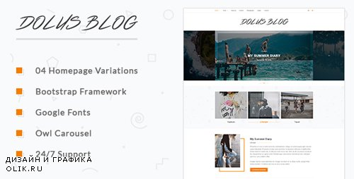 ThemeForest - Dolus v1.0 - Blog HTML5 Template - 18667640