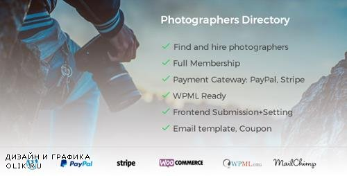 CodeCanyon - Photographer Directory v1.0.6 - WordPress Plugin - 21166889