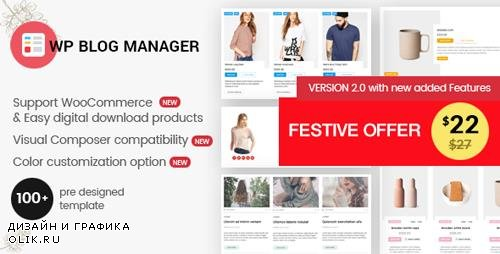 CodeCanyon - WP Blog Manager v2.0.1 - Plugin to Manage / Design WordPress Blog - 20470768