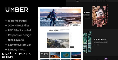 ThemeForest - Umber v1.0 - Photography HTML5 Template - 21944147