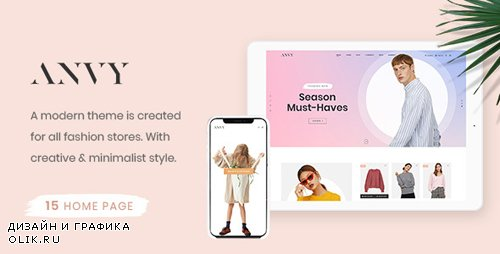 ThemeForest - Anvy v1.0 - Clean, Minimal Shop PSD Template - 22794491