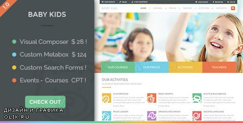 ThemeForest - Baby Kids v3.0 - Education Primary School For Children - 10240657