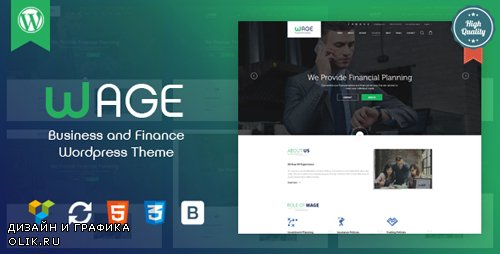 ThemeForest - Wage v1.1 - Business and Finance WordPress Theme - 19770291