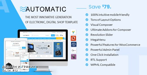 ThemeForest - Automatic v2.0 - WooCommerce Theme for Electronic, Computer, Digital Store - 19585758