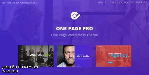 ThemeForest - One Page Pro v1.2.1 - Multi Purpose OnePage WordPress Theme - 19965369