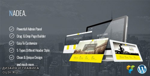 ThemeForest - Nadea v1.0 - Responsive Multi-Purpose WordPress Theme (Update: 6 April 17) - 11804560