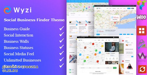 ThemeForest - Wyzi v2.2.1 - Business Finder and Service Provider Booking WordPress Social Look Directory Listing Theme - 18850856 -