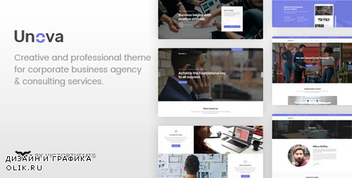 ThemeForest - Unova v1.4 - Consulting Business WordPress Theme - 21424845