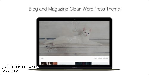 ThemeForest - Real v1.0.7 - Blog and Magazine Clean WordPress Theme - 18125810