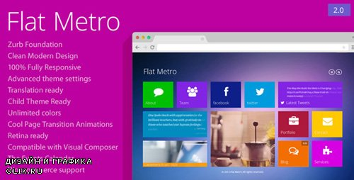 ThemeForest - Flat Metro v2.1 - Responsive WordPress Theme - 7293695