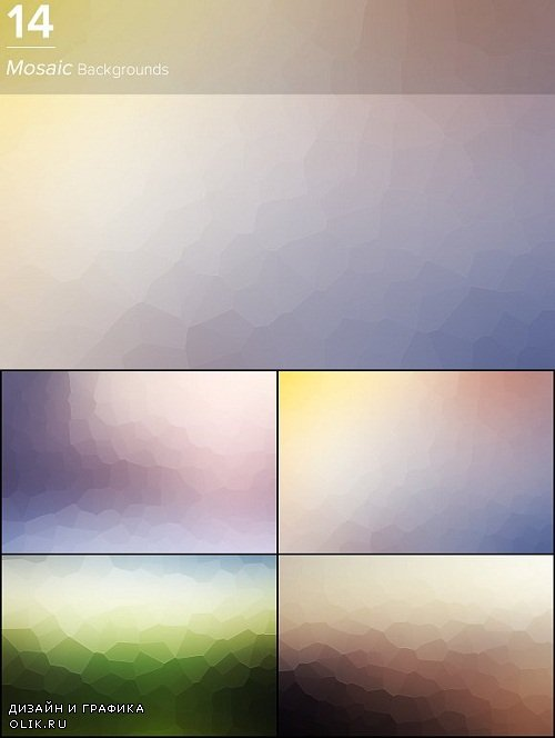 14 Mosaic Backgrounds - 3134631