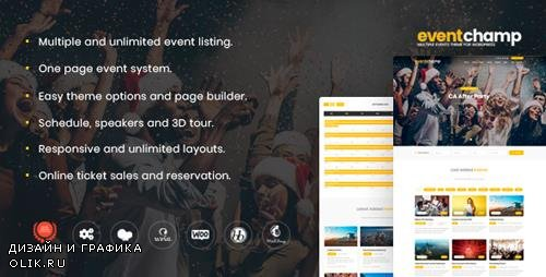 ThemeForest - Event Champ v1.8.5 - Multiple Events & Conference WordPress Theme - 19649101