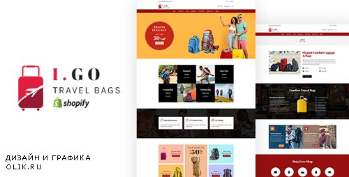 ThemeForest - Igo v1.0 - Travel Bags Shopify Theme - 22913836