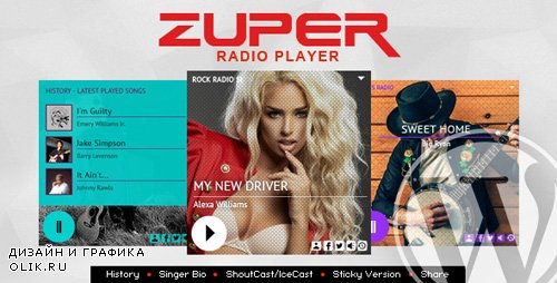 CodeCanyon - Zuper v1.4.7.1 - Shoutcast and Icecast Radio Player With History - WordPress Plugin - 21094130