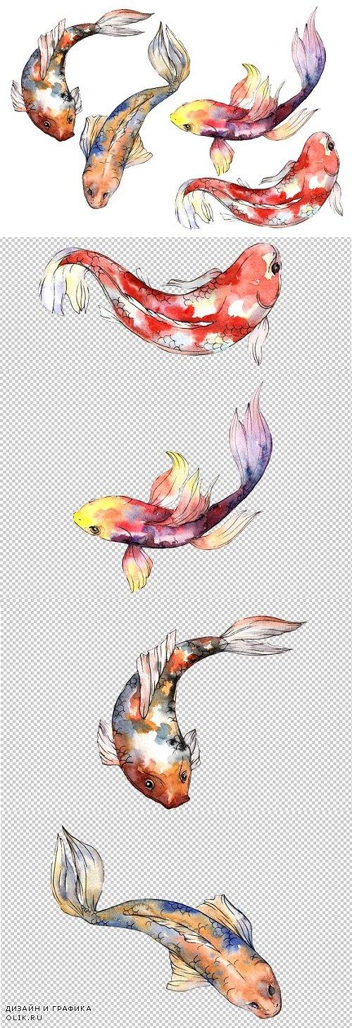 Fairy Goldfish Watercolor png - 3475499