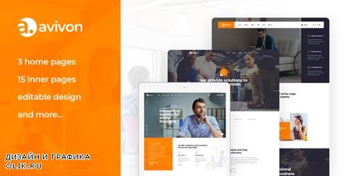 ThemeForest - Avivon v1.0 - Pure Business Consulting & Finance PSD Template - 22688911