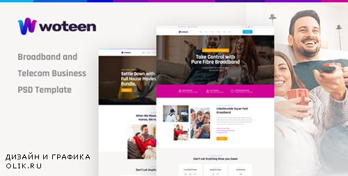 ThemeForest - Woteen v1.0 - Broadband and Telecom Business PSD Template - 23208770