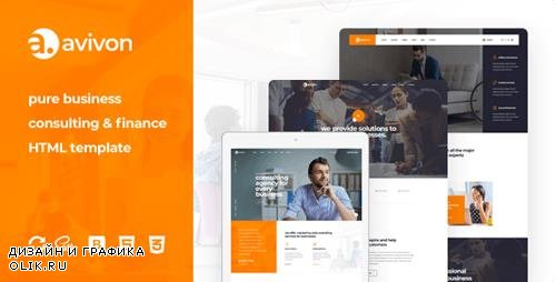 ThemeForest - Avivon v1.0 - Pure Business Consulting & Finance HTML5 Template - 23204209