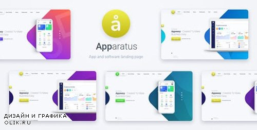 ThemeForest - Apparatus v1.0.2 - A Multi-Purpose One-Page Portfolio and App Landing Theme - 23065584
