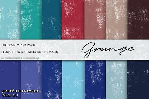 Grunge Digital Papers, Canvas paper - 3504118