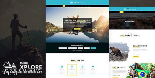 ThemeForest - Xplore v1.0 - Adventure and Travel PSD Template - 22855447