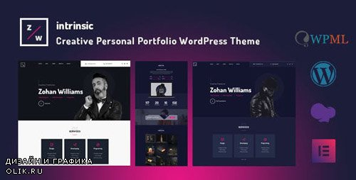 ThemeForest - Intrinsic v1.0.0 - Creative Personal Portfolio WordPress Themes - 23153655