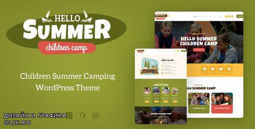 ThemeForest - Hello Summer v1.0.1 - A Children's Camp WordPress Theme (Update: 26 February 19) - 21163971