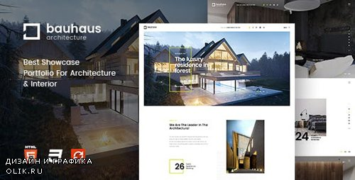 ThemeForest - Bauhaus - Architecture Interior Template (Update: 24 January 19) - 19649490