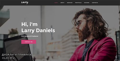 ThemeForest - Larry. v1.0.1 - Personal Onepage WordPress Theme - 19365103