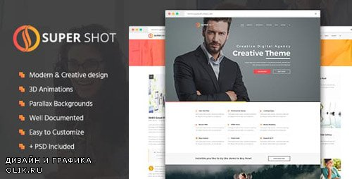 ThemeForest - SuperShot v1.1 - Creative HTML Template - 14893237
