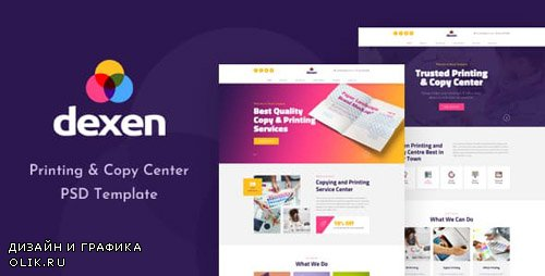 ThemeForest - Dexen v1.0 - Printing and Copy Center PSD Template - 23351650