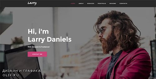 ThemeForest - Larry v1.0 - Personal Onepage Template - 19262722