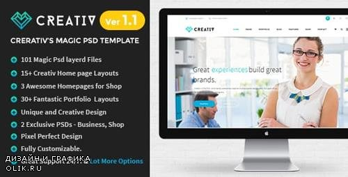 ThemeForest - Creativ v1.3 - Multi_Concept Business PSD Template - 9871906
