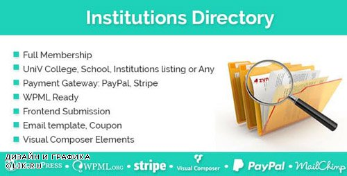 CodeCanyon - Institutions Directory v1.2.0 - WordPress Plugin - 19404510