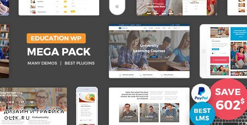 ThemeForest - Education Pack v1.3 - Education Learning Theme WP (Update: 13 February 19) - 16649896