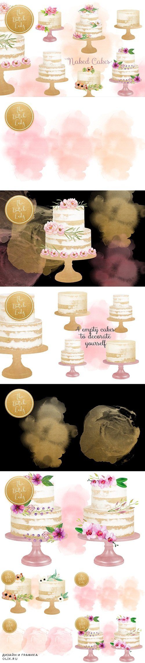 Naked Layered Wedding Cake Clipart - 3533344