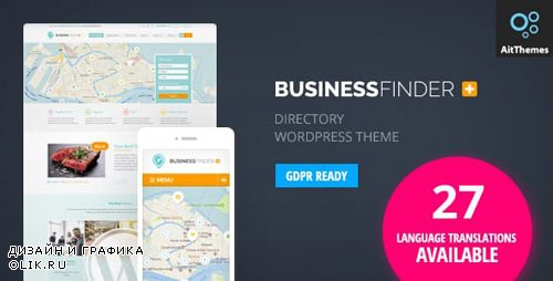 ThemeForest - Business Finder v2.52 - Directory Listing WordPress Theme - 5443578