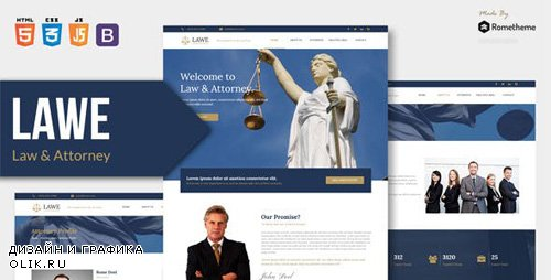 ThemeForest - LAWE v1.0 - Lawyer and Attorney HTML Template - 23446012