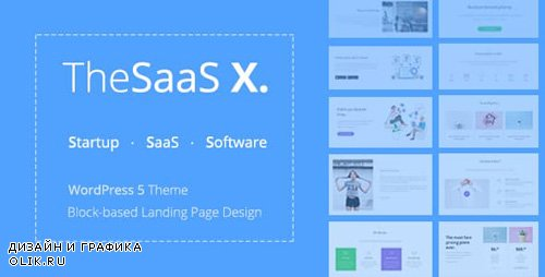 ThemeForest - TheSaaS X v1.0.3 - Responsive SaaS, Startup & Business WordPress Theme - 20136366