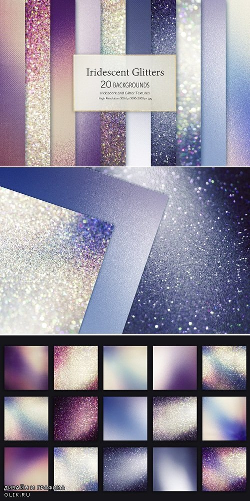 Iridescent and Glitter Textures - 3483530